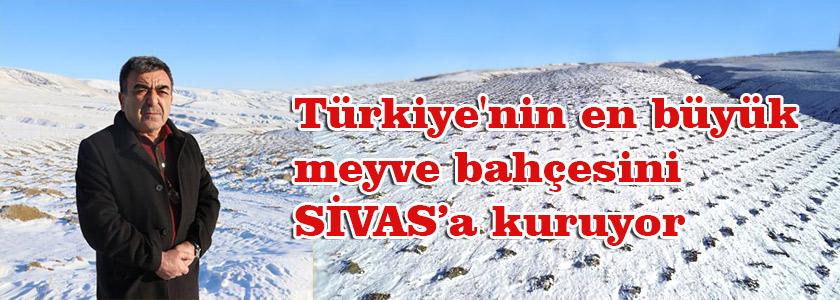 Sivaslı işadamı memleketine Türkiye'nin en büyük meyve bahçesini kuruyor